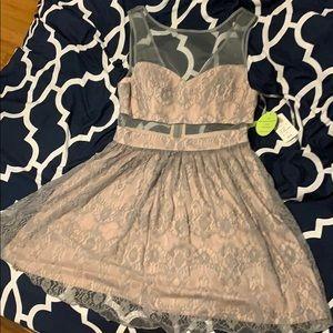 Pink/gray size 9/10  shear short dress.